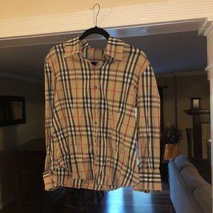 Burberry Check Pattern Button Down Shirt